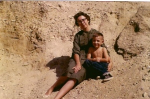 My Mom and me, Southern Californian Desert 1962.