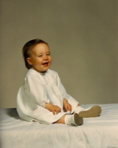 My daughter Megan, 1990 aged 9 months.