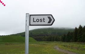 I didn't really need a signpost to tell me I was lost.