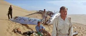 Leaving the crash site. Stuart Whitman and Nigel Davenport.