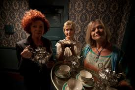 Quinn, Wallace and Geeson, Three scary ladies.