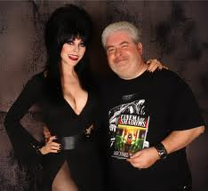 Michael with Elvira Mistress of the Dark...
