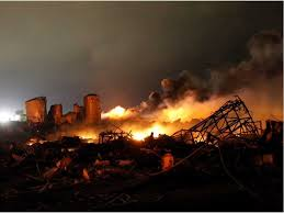 West Texas. Fires after the explosion.