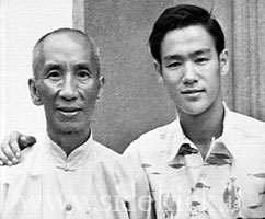 The real Ip Man (Yip Man) and a young Bruce Lee.