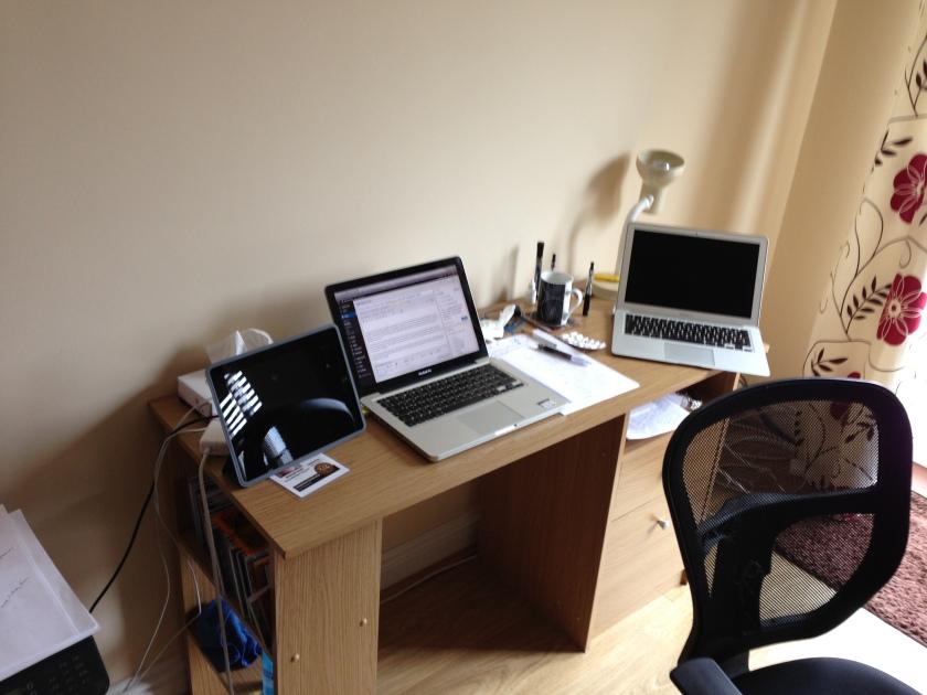 My work desk.