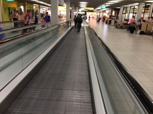 Life saving moving sidewalk