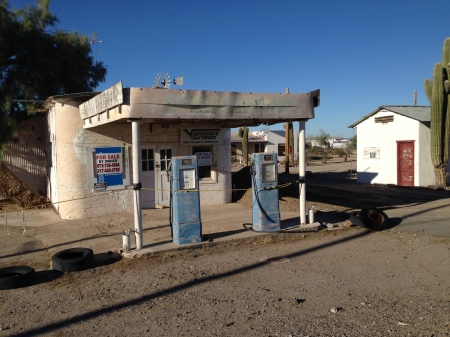 Old Gas Station in Quartzsite Author Photo