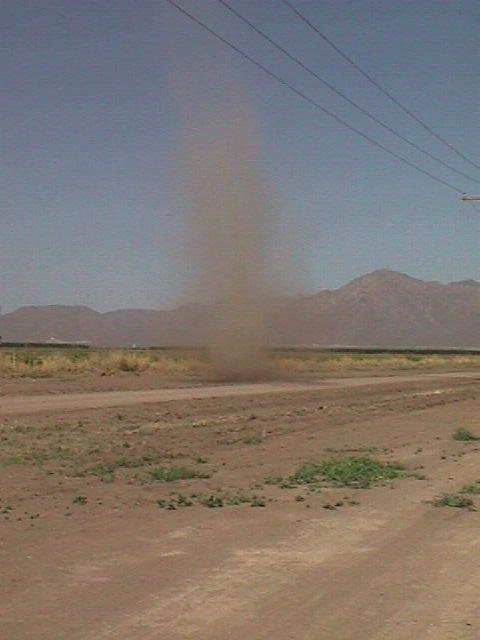 Photo of dust devil in Arizona