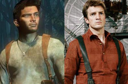 IGN mockup of Nathan Fillion as Nathan Drake