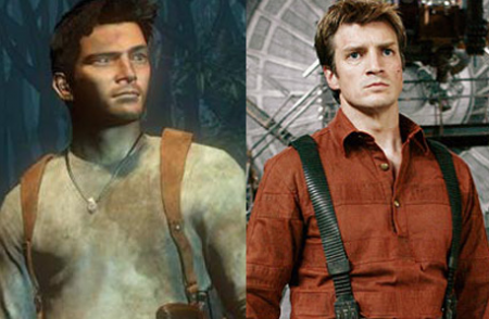 IGN mockup of Nathan Fillion as Nathan Drake