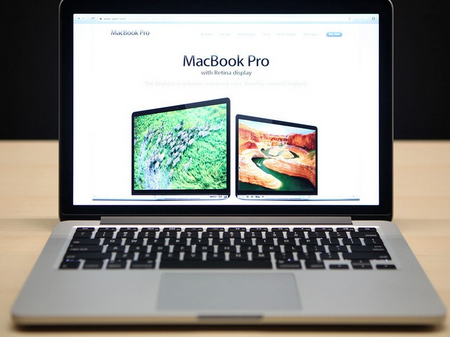 Marketing shot of MacBookPro